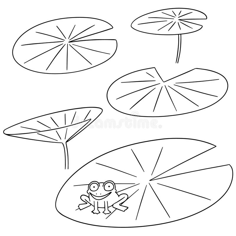 Grupo do vetor de lótus ilustração stock