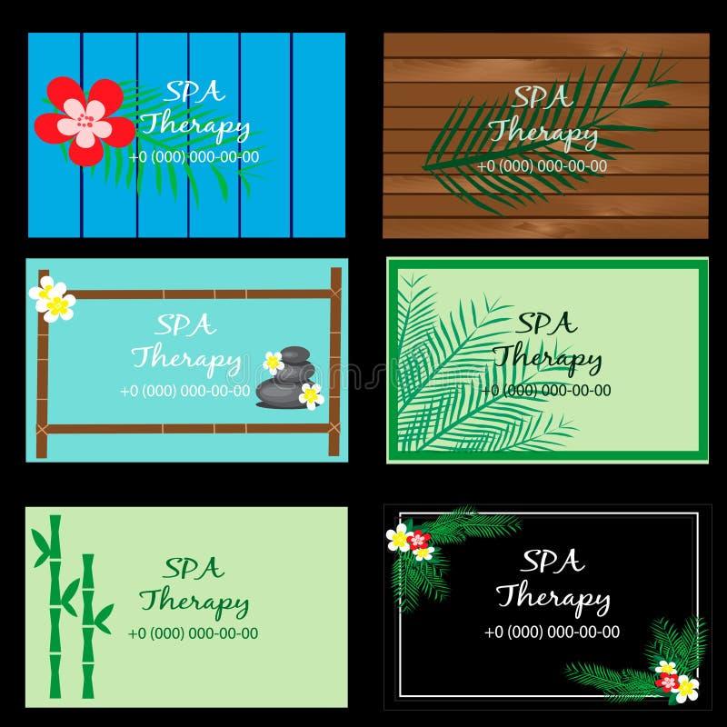 Grupo do vetor de logotipo, crachá, emblema, moldes para termas, salões de beleza do projeto do logotype, cosméticos orgânicos, m ilustração royalty free