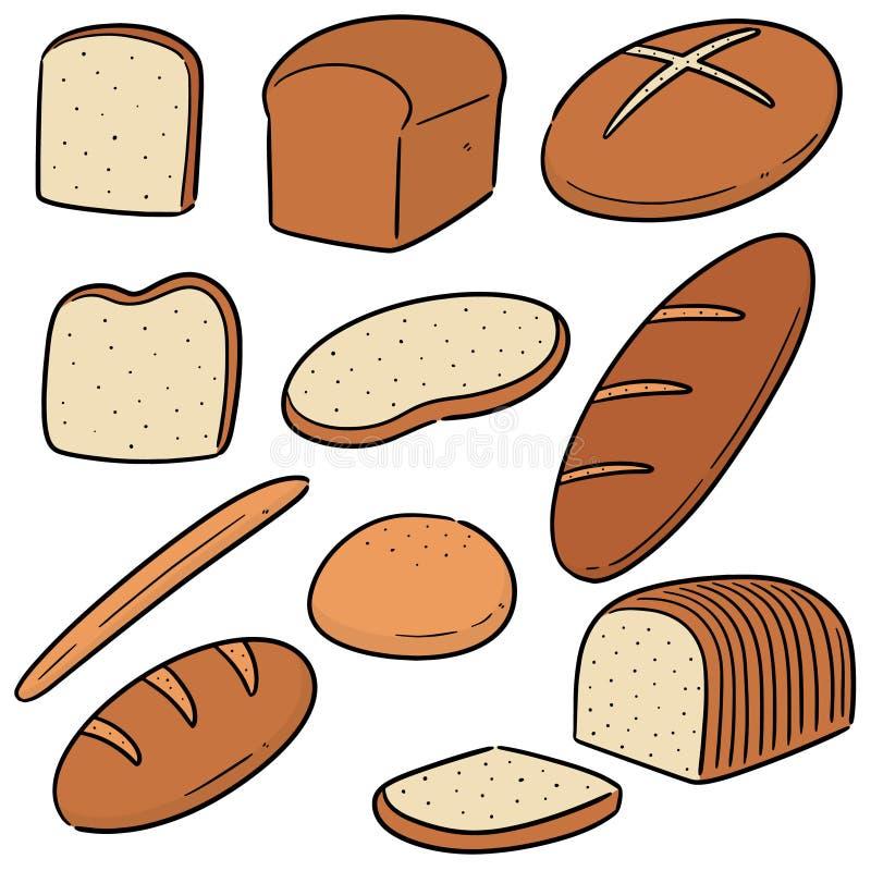 Grupo do vetor de pão ilustração stock
