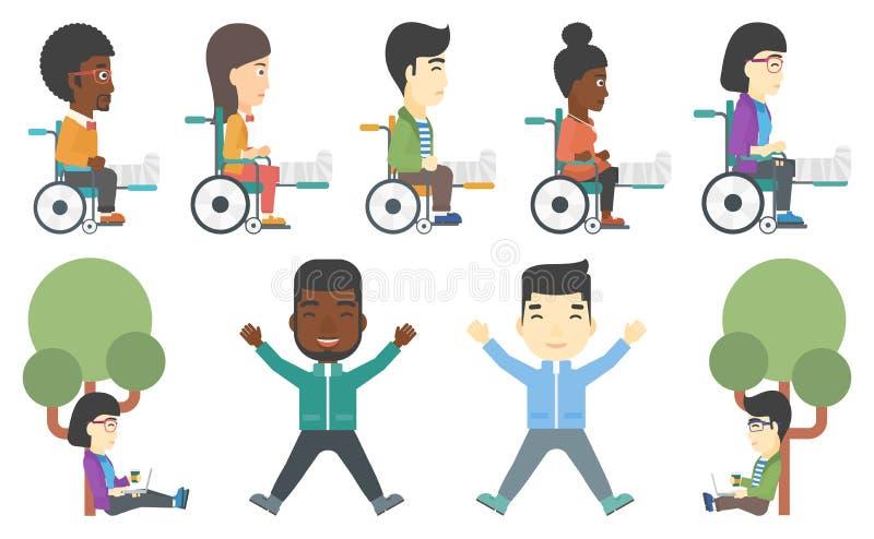 Grupo do vetor de pacientes e de caráteres do negócio ilustração stock