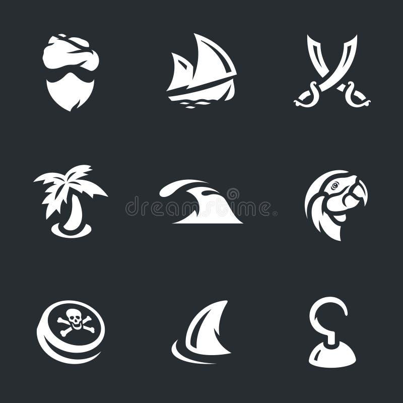Grupo do vetor de piratas ilustração do vetor