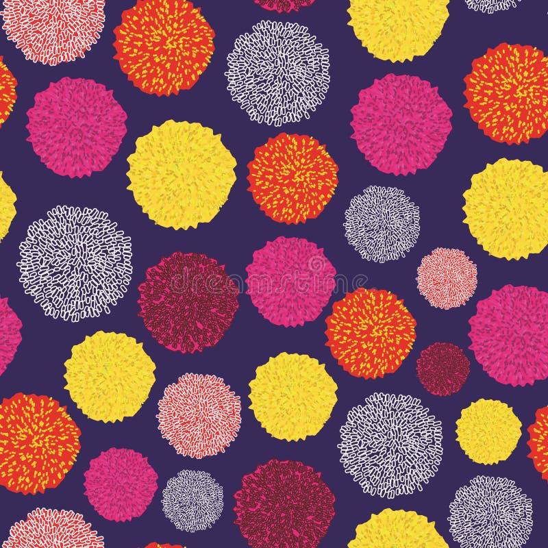 Grupo do vetor de Pom Poms Decorative Elements colorido Bobble, pom do pom na cor pastel, estilo do boho ilustração royalty free