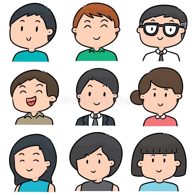 Grupo do vetor de povos ilustração do vetor
