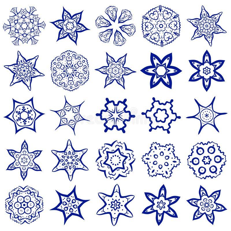 Grupo do vetor de símbolos sagrados simples da geometria ilustração do vetor