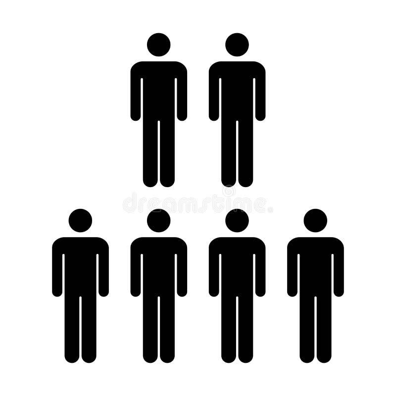 Grupo do vetor do ícone dos povos de ilustração de Team Symbol Pictogram dos homens ilustração stock