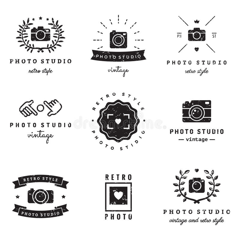 Download Grupo Do Vetor Do Vintage Do Logotipo Do Barbeiro (cabeleireiro)  Moderno E Estilo