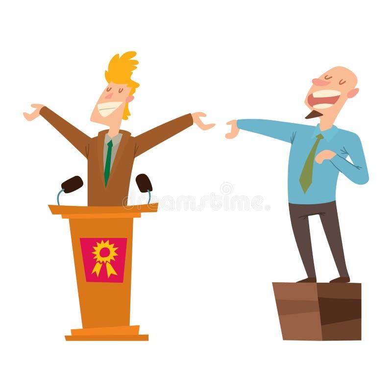 Grupo do vetor dos povos dos políticos ilustração royalty free