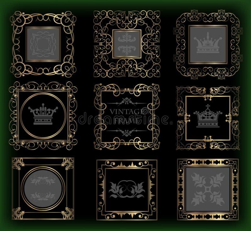 Grupo do vetor. Elementos caligráficos do projeto para seu projeto. ilustração royalty free