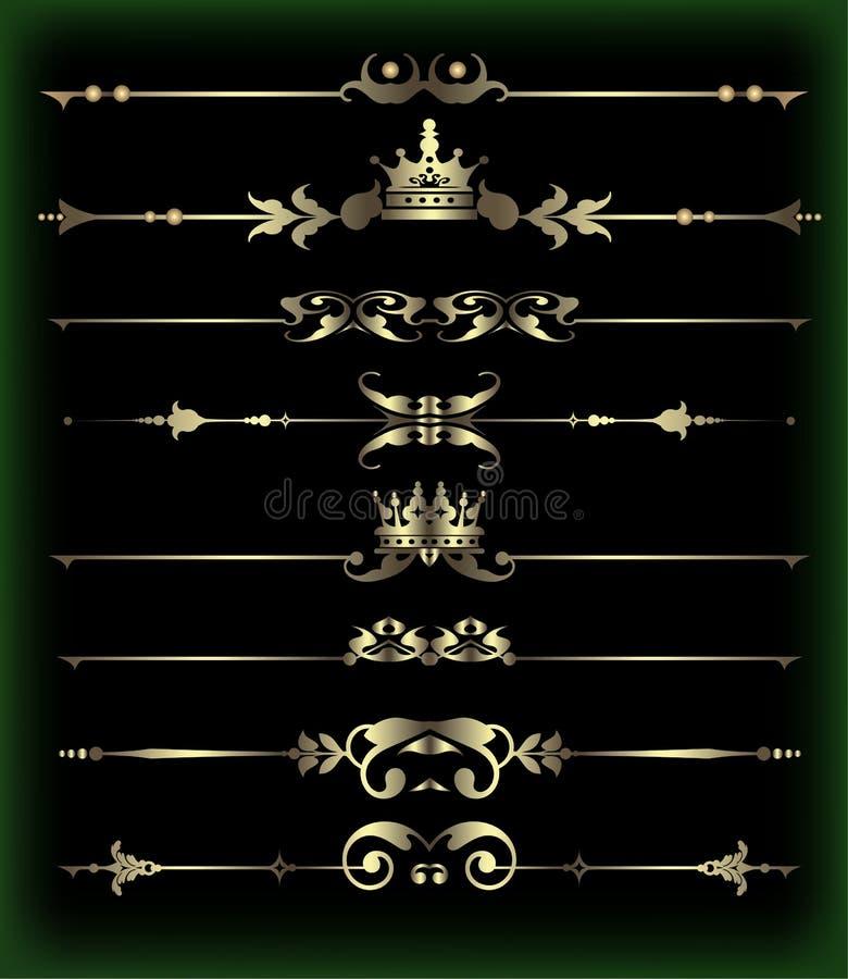 Grupo do vetor. Elementos caligráficos do projeto para seu projeto. ilustração stock