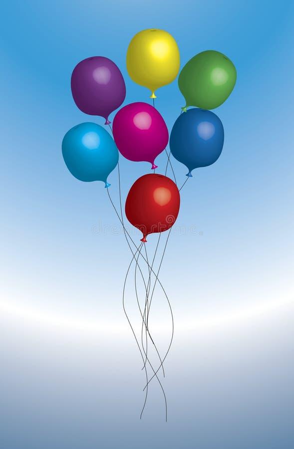 Grupo dos balões ilustração royalty free