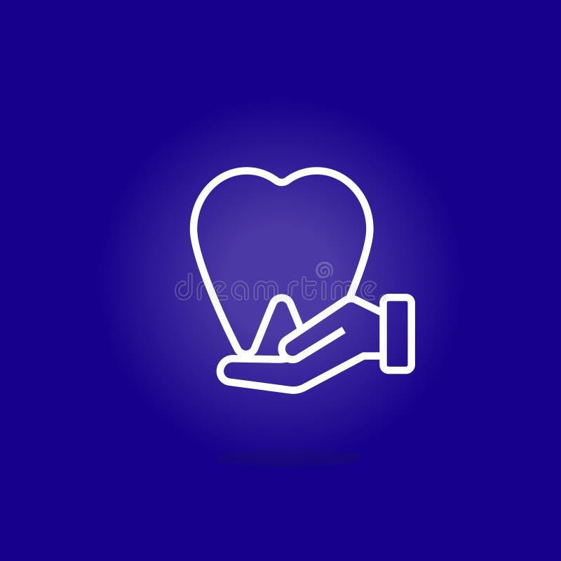Grupo dos cuidados m?dicos Ajuste do ícone do esboço logo Vetor ilustração stock