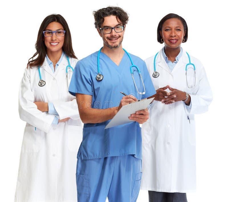 Grupo dos doutores imagens de stock