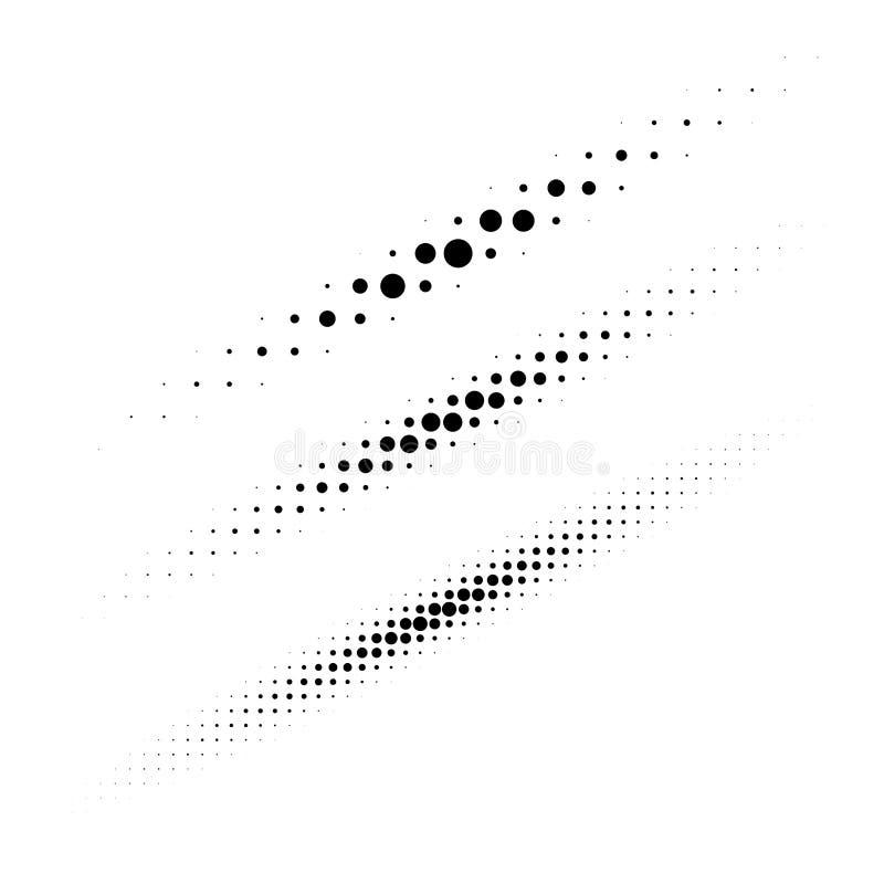 Grupo dos elementos de intervalo mínimo do projeto dos pontos do círculo Coleção de linhas ovais finas diagonais usando a textura ilustração stock