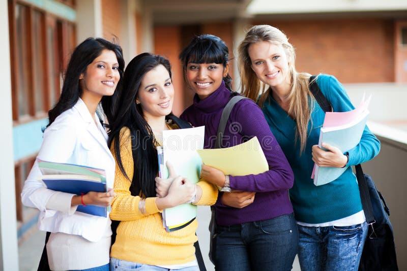 Grupo dos estudantes universitários imagens de stock