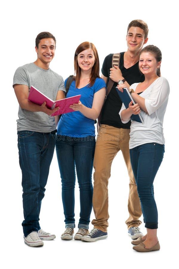 Grupo dos estudantes universitários fotos de stock