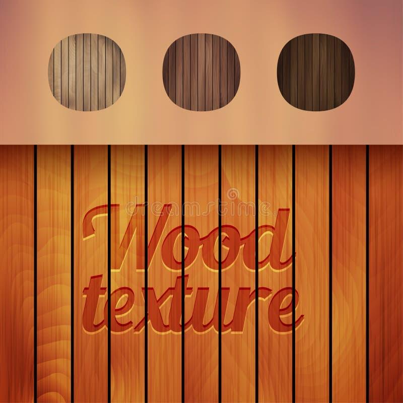 Grupo dos fundos de madeira da textura, quatro cores ilustração do vetor
