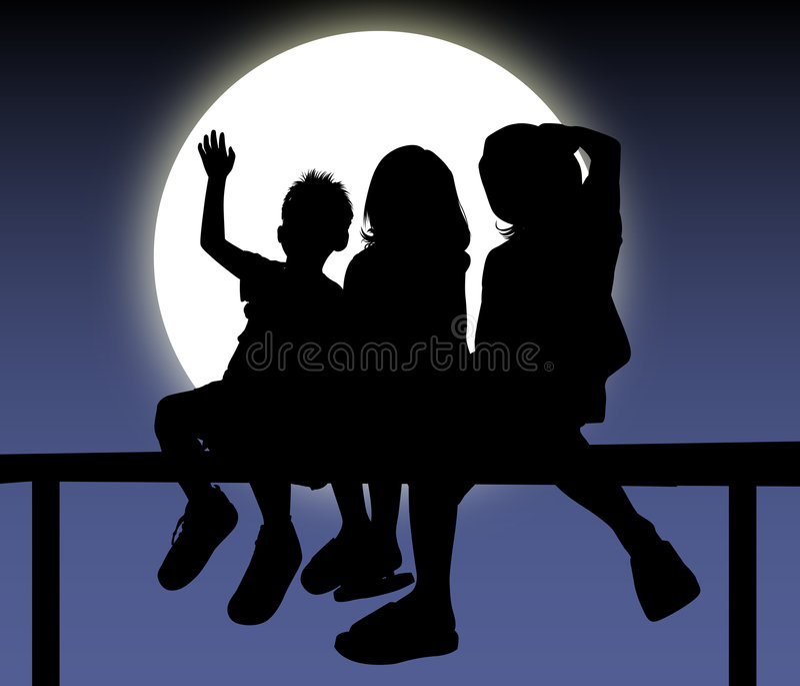 Grupo dos miúdos! ilustração do vetor