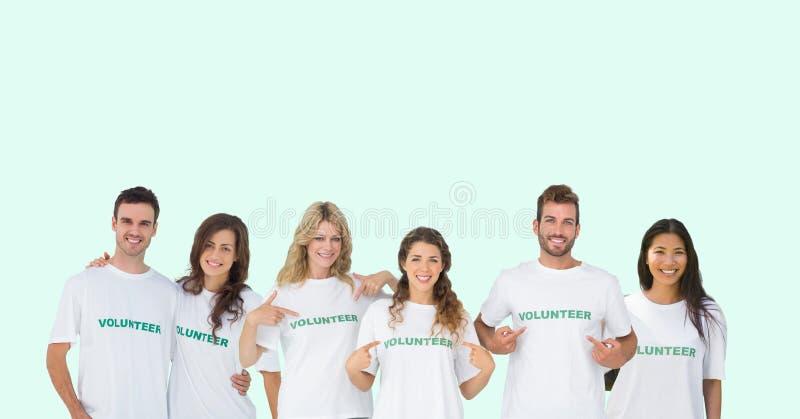 grupo dos voluntários fotos de stock