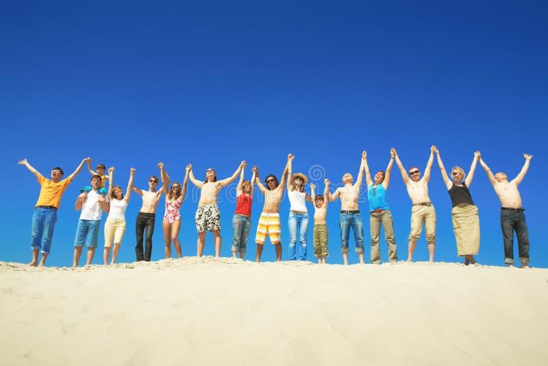 Grupo durante o verão fotografia de stock