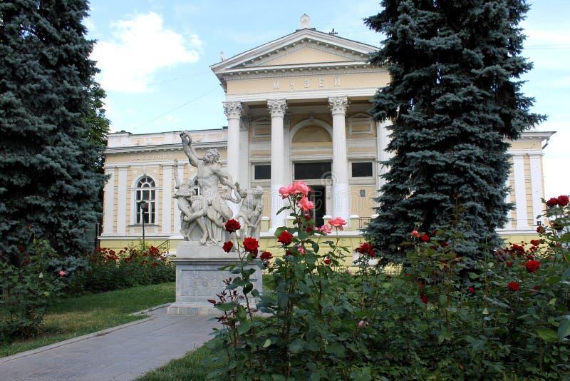Grupo escultural Laocoon en Odessa imagenes de archivo