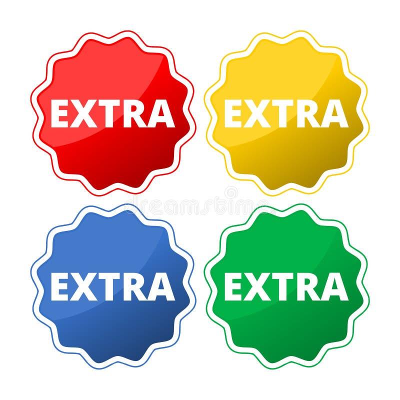 Grupo extra do ícone do botão ilustração do vetor