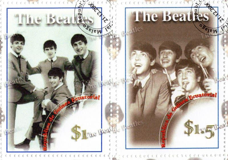 Grupo famoso do Beatles fotografia de stock