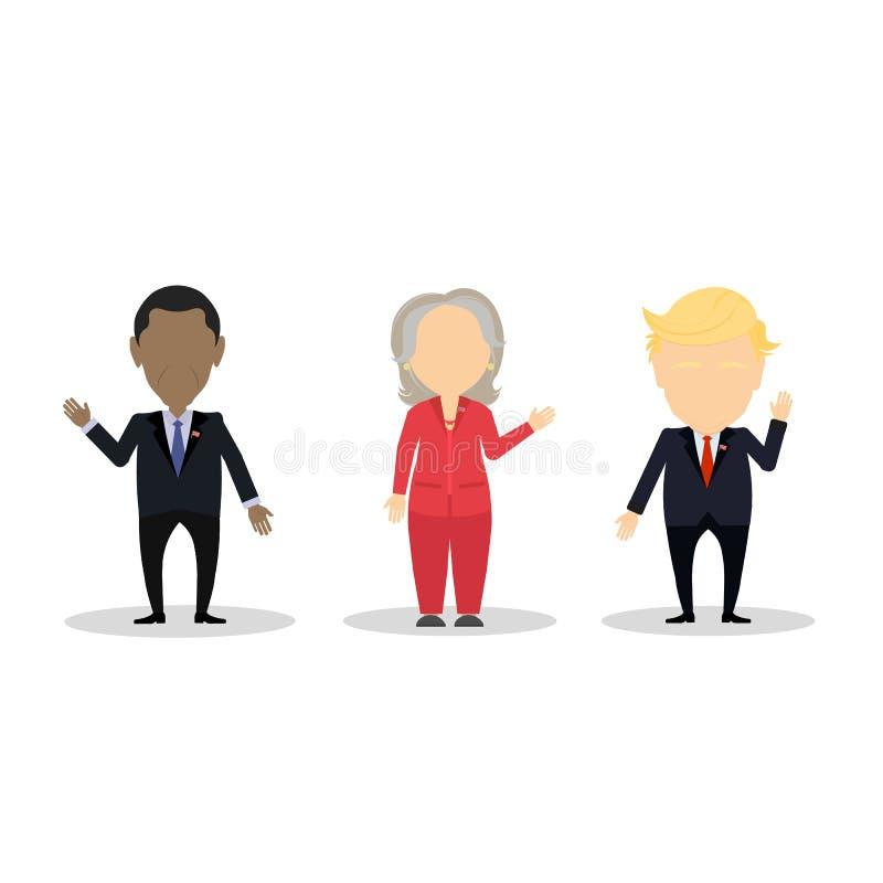 Grupo famoso do político ilustração stock