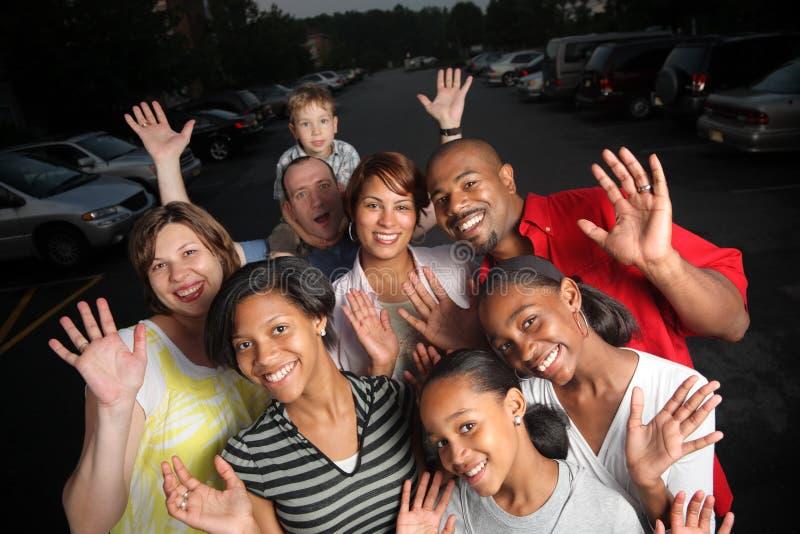 Grupo feliz imagen de archivo