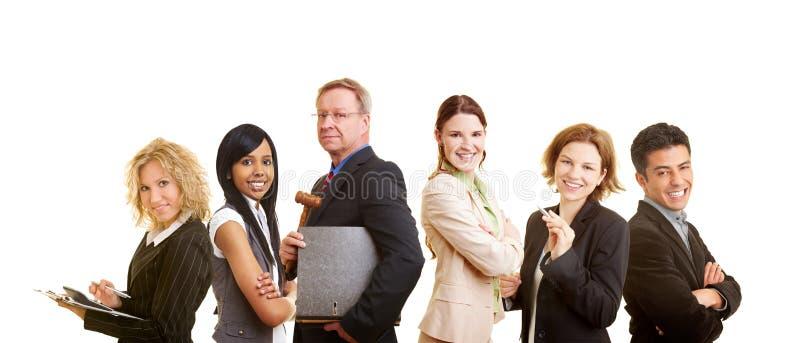 Grupo feliz de abogados foto de archivo