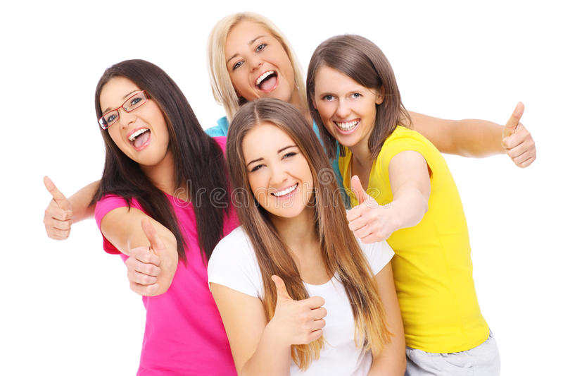Grupo feliz de amigos imagen de archivo