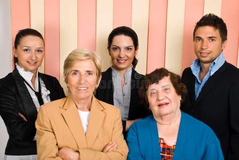 Grupo feliz de hombres de negocios foto de archivo