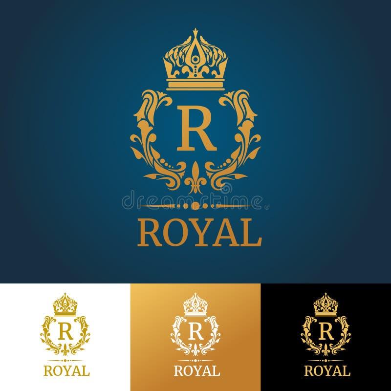 Grupo floral do vetor dos monogramas Elementos do projeto para convites do casamento ilustração royalty free