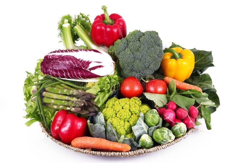Grupo fresco de verduras en el fondo blanco fotografía de archivo libre de regalías