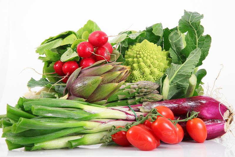 Grupo fresco de verduras en el fondo blanco imágenes de archivo libres de regalías