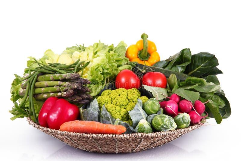 Grupo fresco de verduras en el fondo blanco fotos de archivo libres de regalías