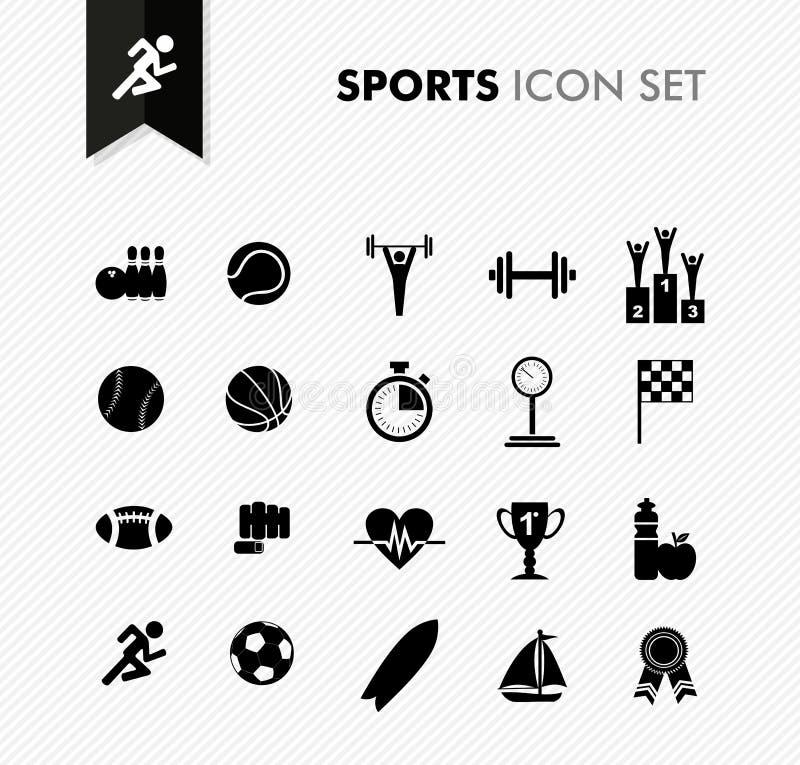Grupo fresco do ícone dos esportes. ilustração do vetor