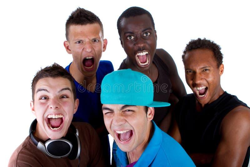 Grupo fresco novo de adolescentes do quadril. foto de stock