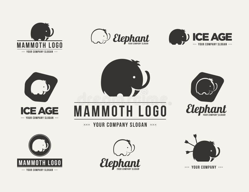 Grupo gigantesco do logotipo do vetor da silhueta foto de stock royalty free