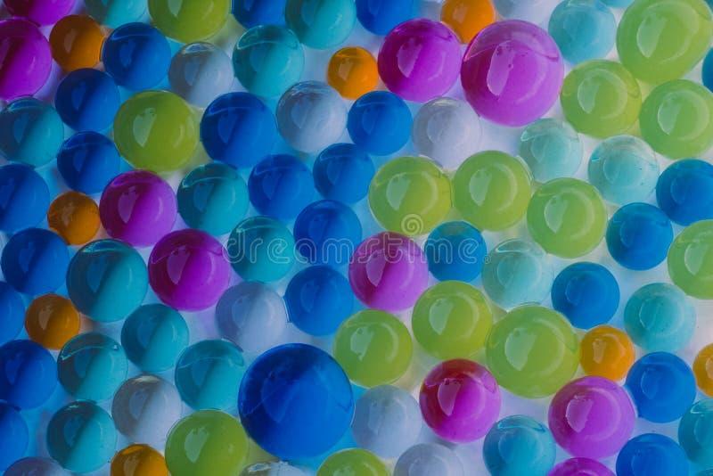 Grupo grande de bolas multicoloras del hidrogel foto de archivo