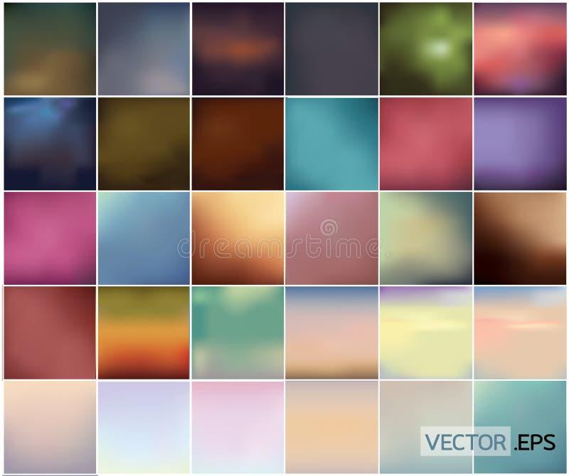 Grupo grande de fundo abstrato colorido delicado ilustração do vetor