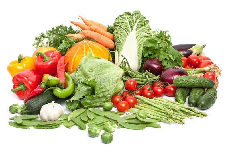Grupo grande de vegetais imagem de stock