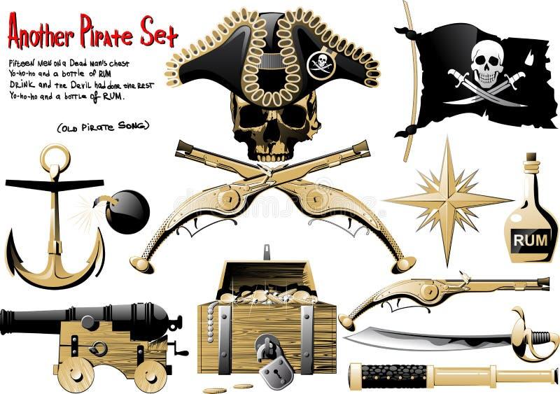 Grupo grande do pirata ilustração stock