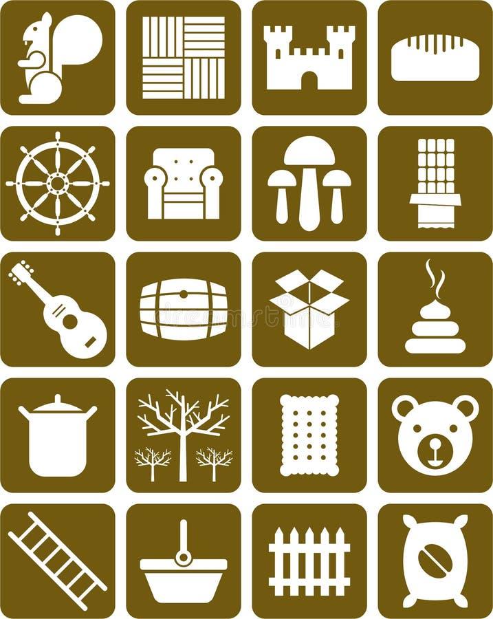 Grupo de ícones ilustração do vetor