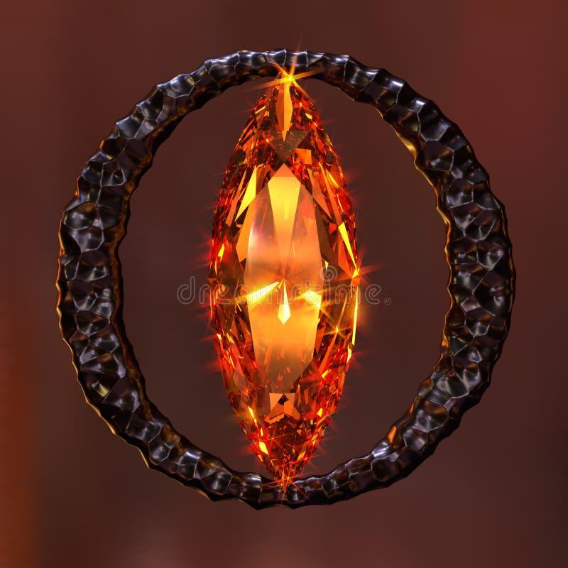 Grupo imaginário do olho de pedra preciosa ilustração royalty free