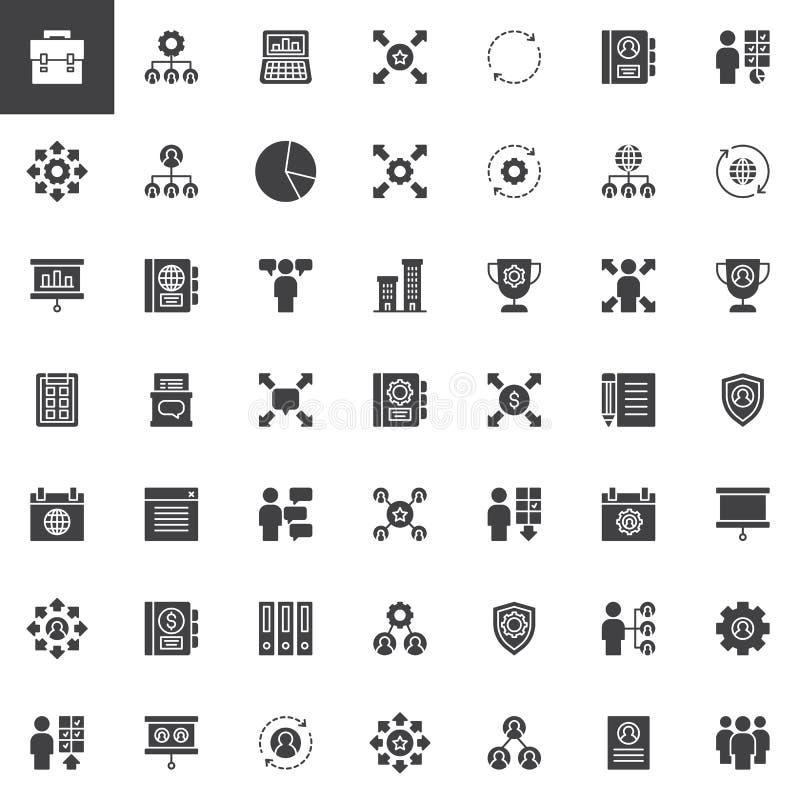 Grupo incorporado dos ícones do vetor ilustração royalty free