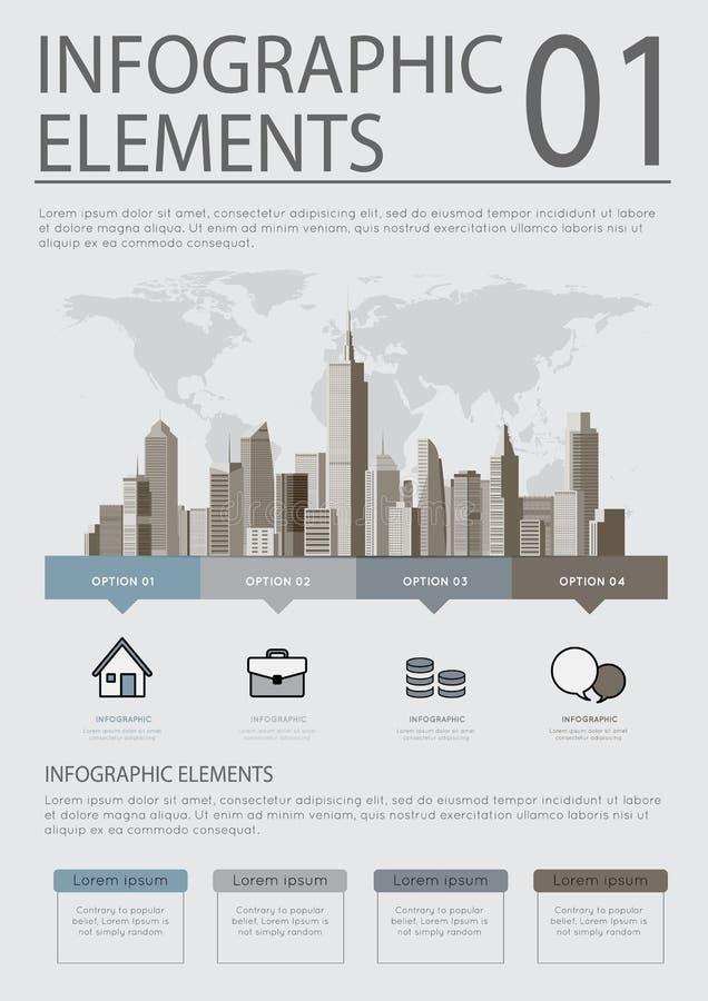 Grupo infographic do molde do negócio Ilustração do vetor ilustração stock