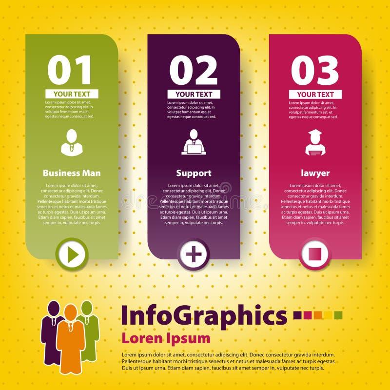Grupo Infographic Em Trabalhos De Equipa Imagens de Stock