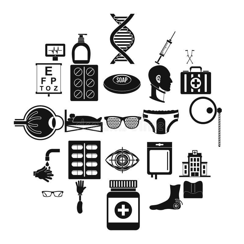 Grupo inválido dos ícones, estilo simples ilustração royalty free
