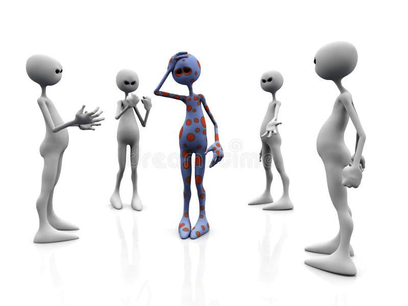 Grupo irritado. ilustração royalty free