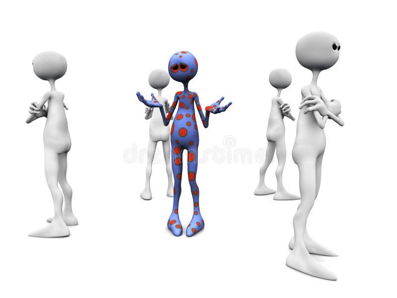 Grupo irritado. ilustração do vetor